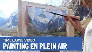 Time Lapse Video | Painting En Plein Air in Fiordland National Park, New Zealand
