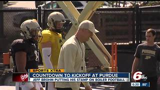 Purdue football coach counts down to football season - Video