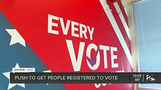 Push to get people registered to vote