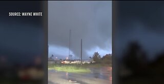 Possible tornado spotted in SC