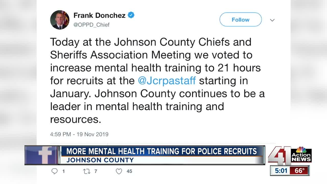 Overland Park police chief announces increase in mental health training for recruits