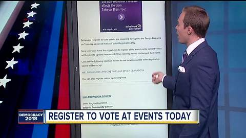 Get registered to vote for the 2018 General Election at National Voter Registration Day events