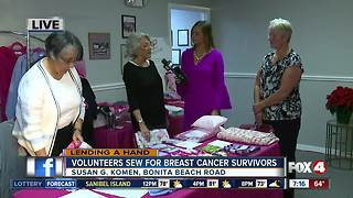 Volunteers sew for breast cancer survivors -- 7am Live Report - Video
