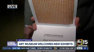 Scottsdale art museum unveils new exhibits - Video