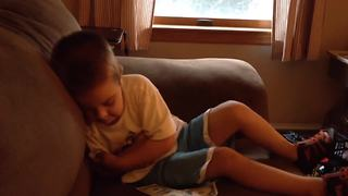 Little Boy Gets Really Upset Because He Got Money Instead Of Stickers As A Gift - Video