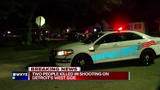 Search for masked men underway after two shot and killed on Detroit's west side - Video