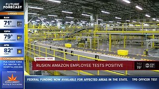 Amazon worker at Ruskin warehouse tests positive for COVID-19