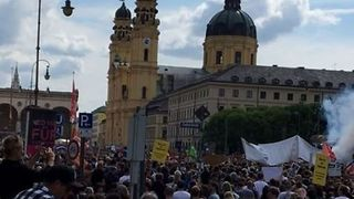 Tens of Thousands in Munich Protest Extension of Police Surveillance Powers - Video