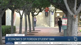 Possible economic impact of barring foreign university students