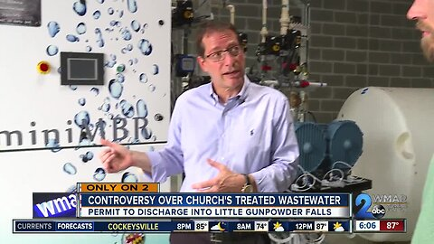 Controversy over church's treated wastewater