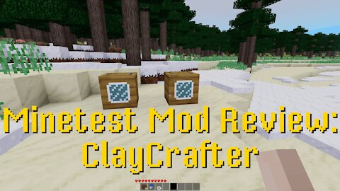 Minetest Mod Review: ClayCrafter