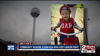 Community honors 2-year-old who lost cancer fight - Video