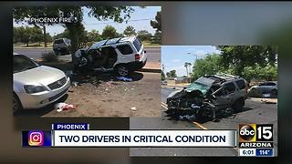 PD: 2 people hospitalized after car crash - Video