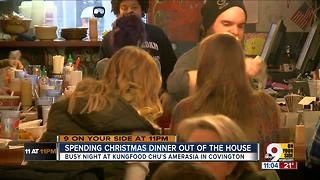 Christmas dinner out of the house - Video