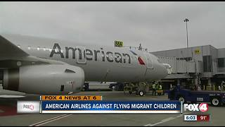 Airlines against flying migrant children