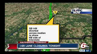 I-69 lane closures - Video