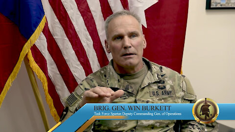 Brig. Gen. Win Burkett shares a memory of his personal experience during Desert Storm