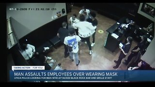 Utica police looking for man in connection to mask-related assault at restaurant