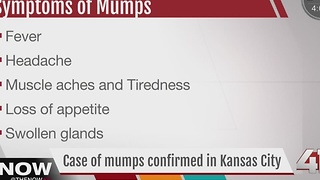 Case of mumps confirmed in KC