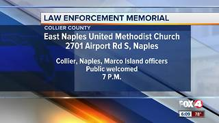 Collier County law enforcement officers hold memorial for fallen officers