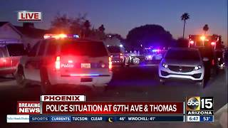 Police situation near 67th Avenue and Thomas - Video