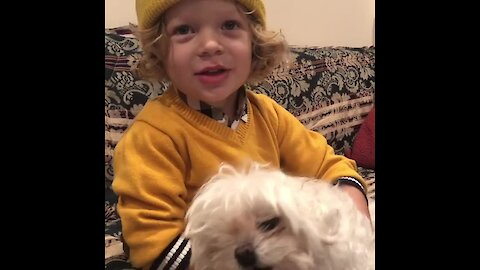 Little kid and his dog sing the ultimate birthday song duet