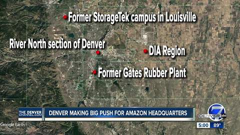 Denver narrowing down location for Amazon