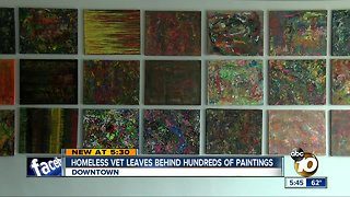 Homeless veteran leaves behind hundreds of paintings