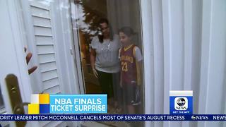 GMA surprises Cleveland kid with tickets to the NBA Finals - Video