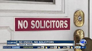 No knock, no soliciting signs allow homeowners to 'opt out' - Video