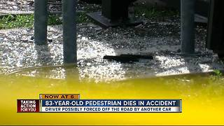 Man dies after being hit at bus stop - Video