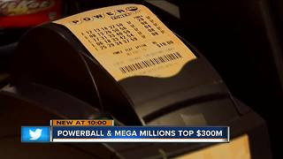 Powerball and Mega Millions top $300 million - Video
