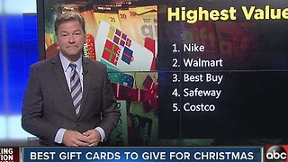 Best gift cards to give for Christmas - Video