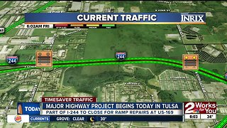 Major highway project begins today in Tulsa