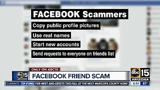 Facebook friend scams and how you can avoid it