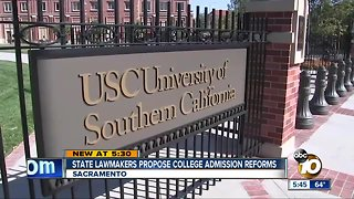State lawmakers propose college admission reforms