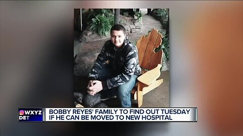 Bobby Reyes' family to find out Tuesday if he can be moved to new hospital