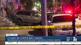 Bad crash in Curtis Bay sends two people to hospital including 5-month-old child