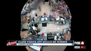 Clerk fights off Would-Be Robber - Video