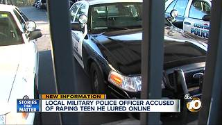 Military police officer accused of raping teen he lured online - Video