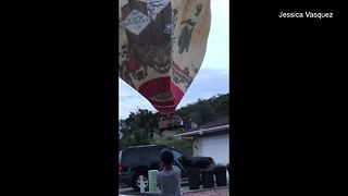 Hot air balloon lands in Rancho Penasquitos