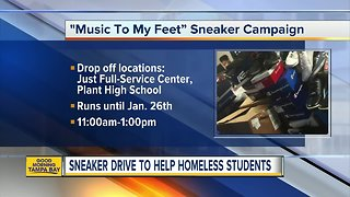 Sneaker drive to help homeless students