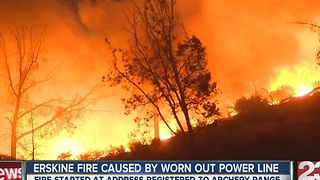 Erskine Fire caused by worn down electrical line - Video