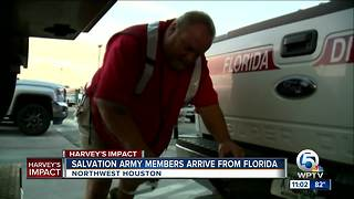 Salvation Army members arrive from Florida - Video