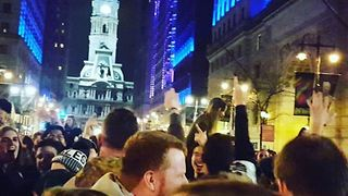 'Fly, Eagles Fly' - Philly Fans Sing Their Hearts Out in Front of City Hall - Video