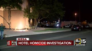 Hotel homicide investigation underway in Mesa - Video