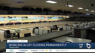 Bowling alley closing permanently