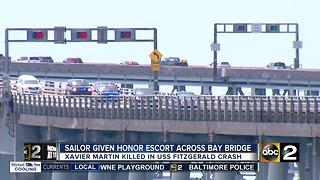 Fallen U.S. Navy Specialist receives honorary escort across Bay Bridge - Video