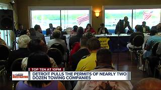 Detroit pulls the permits of nearly two dozen towing companies
