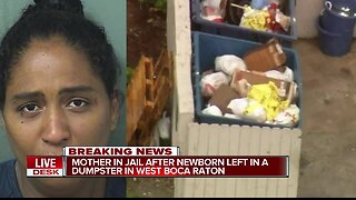 35-year-old west Boca woman arrested after baby found alive in dumpster